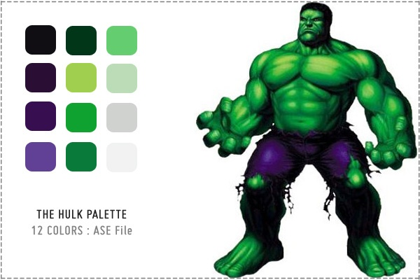 The Hulk Love These Greens Green Colour Palette Color