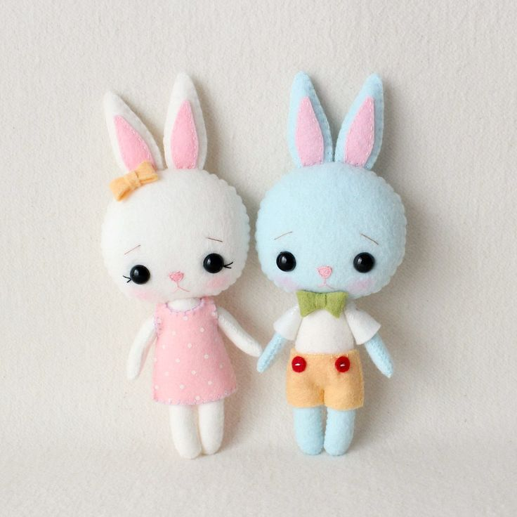 Pocket Bunny pdf Pattern - Bugsy and Marzipan by Gingermelon on Etsy