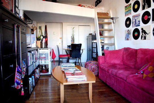 Colorful Studio Apartment Home Pinterest Loft Pink