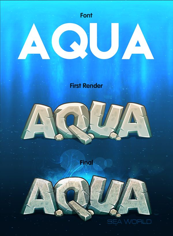 A.Q.U.A game logo on Behance
