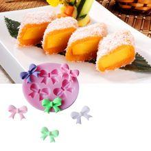 Bow tvar Modeling dort výzdoba Fondant čokoládový pudink Cookie Soap silikonové formy 3D Food Grade Silicone 5,8 x 5 x 0,8 cm (Čína (pevninská část))