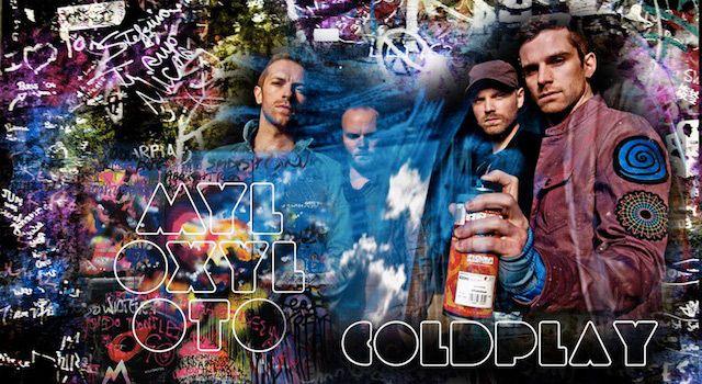 Coldplay: in vendita all'asta il murale di 'Mylo Xyloto'