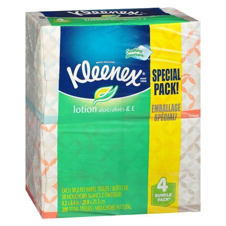 Kleenex Facial Tissue With Lotion Upright - 50 sh