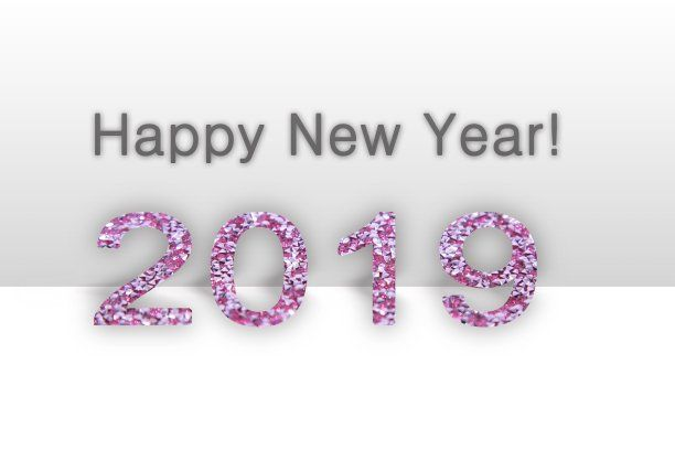 2019 happy new year background image white pink