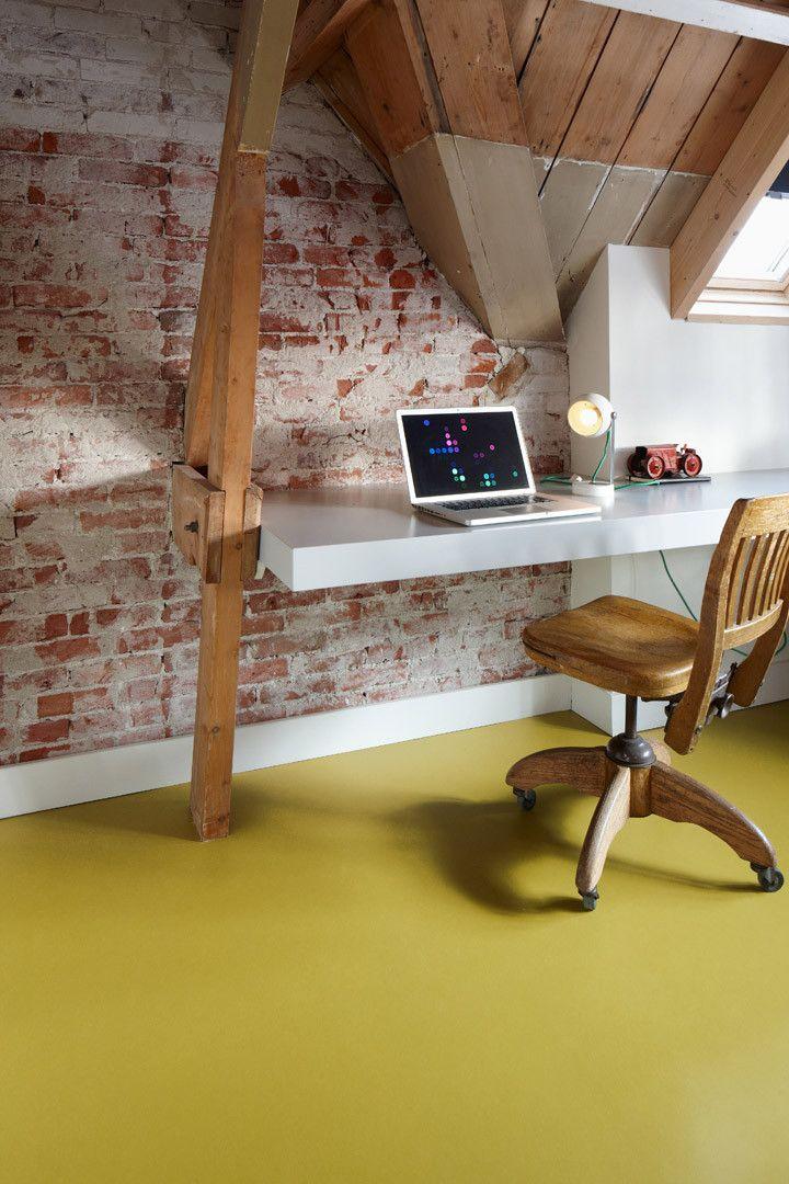 Marmoleum (Thuis Selectie) Linoleum - vloer 3362 yellow moss- geel, groen