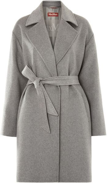 Giunco Cashmere Coat with Belt - Lyst