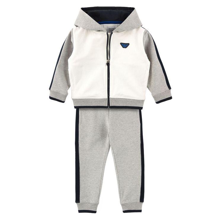 Armani Junior | Armani Junior - Sweat zippé à capuche et pantalon de jogging en ...