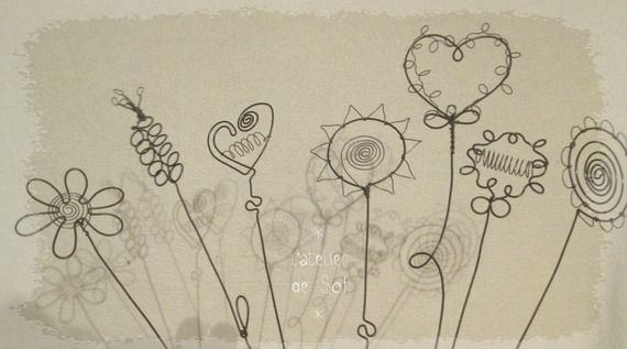 fleurs pour composer soi-même un bouquet végétal ... en fil de fer