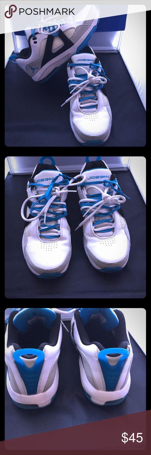 Men's turquoise white and black Jordan's Men's turquoise black and white Jordan's in good condition Jordan Shoes Sneakers