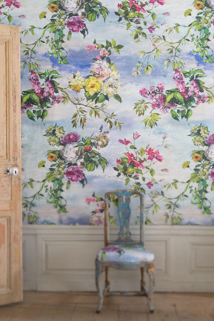 Designers Guild Caprifoglio Wallpaper Collection Murs Pinterest Nuances De Bleu Decor