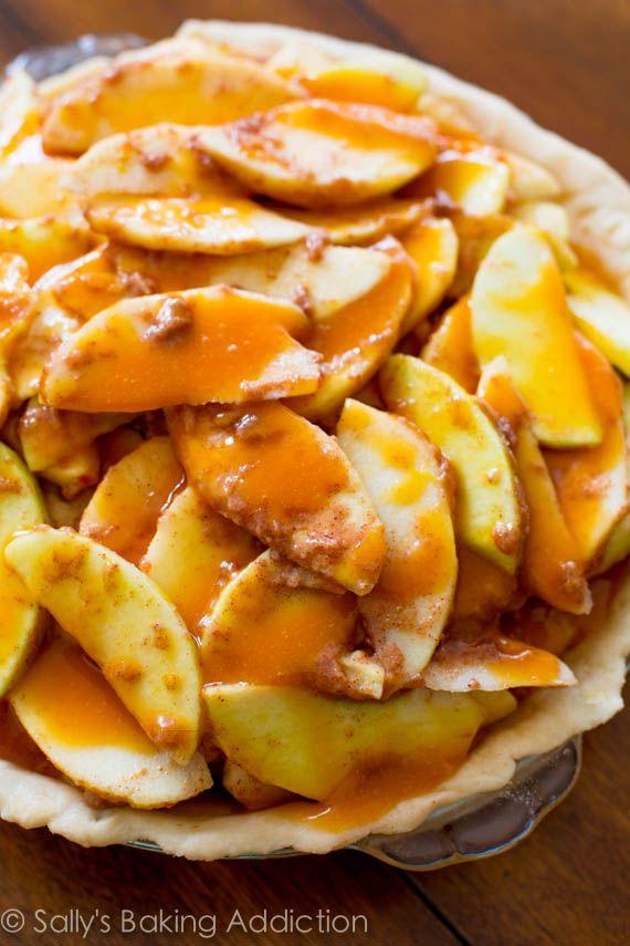 Salted Caramel Apple Pie...the holy grail of caramel apple desserts