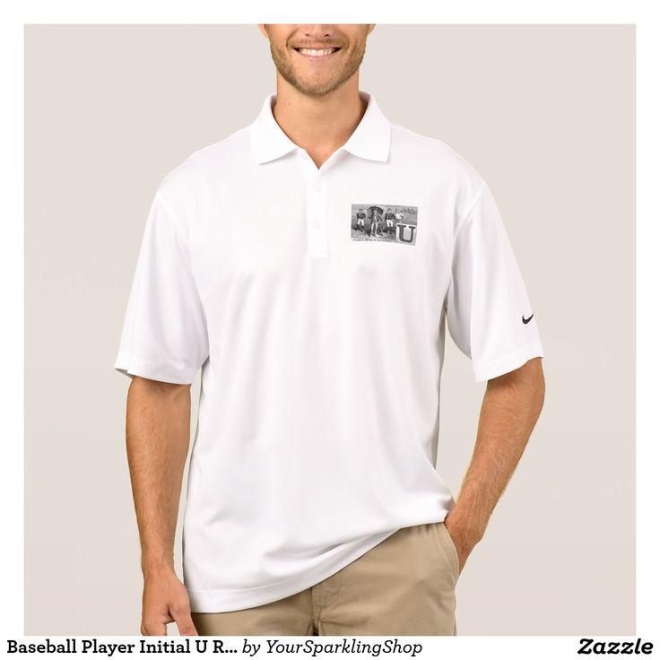 #Baseball Player Initial U Rhyme #Vintage #Umpire #Polo #Shirt
