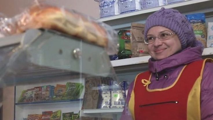 The shop on the front line of Ukraine-Russia conflict that's always open - BBC News