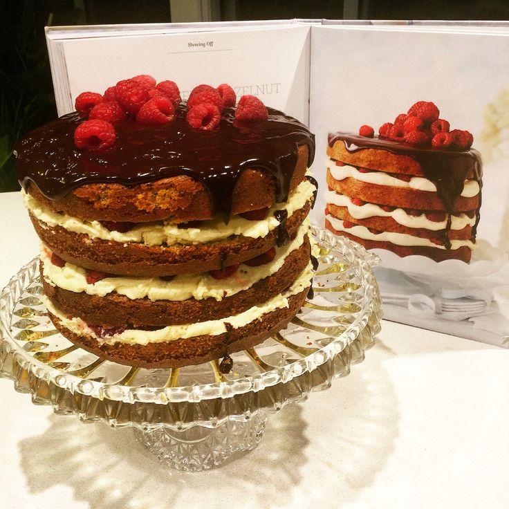 Katie's 30th Birthday Cake 2016 - Women's Weekly Raspberry Poppyseed and Marscarpone Cake