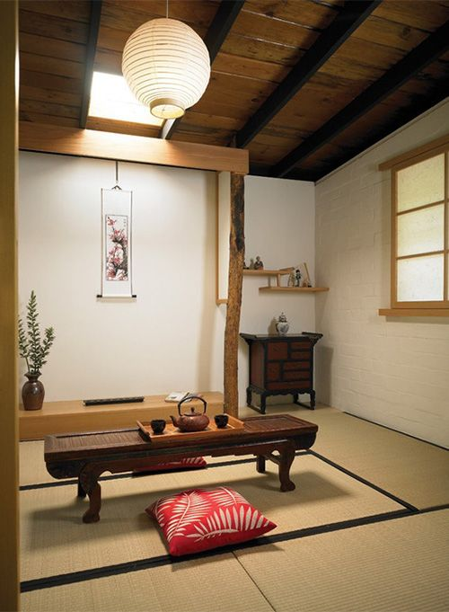 Washitsu (Japanese style room), is a term used as an antonym for yoshitsu (Western style room). A feature of washitsu is tatami flooring. Washitsu usually have sliding doors (fusuma). They may have shoji & if used as a reception room, it may have a tokonoma (alcove for decorative items). Today, many Japanese houses have only 1 washitsu, used for entertaining guests. The furniture in a washitsu may include a low table at which a family may eat dinner or entertain guests, while sitting on…
