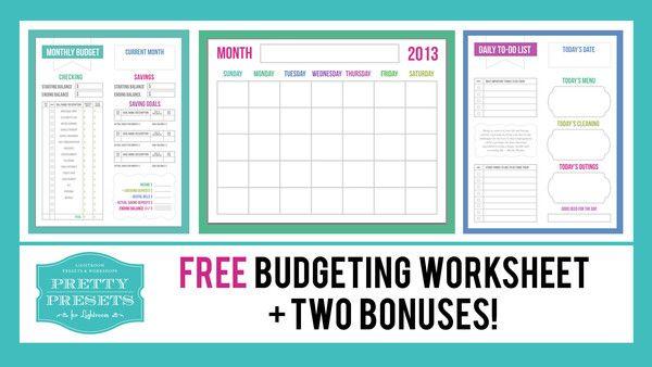予算のヒント+無料の予算ワークシート| Lightroomのためのプリティプリセット