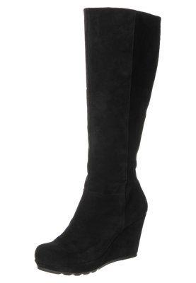 Stivali con la zeppa - nero