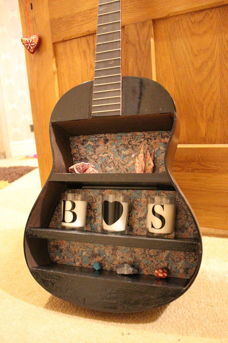 13 best guitar shelves images on pinterest guitar shelf music upcycled guitar shelf in black httpsetsyuk solutioingenieria Gallery