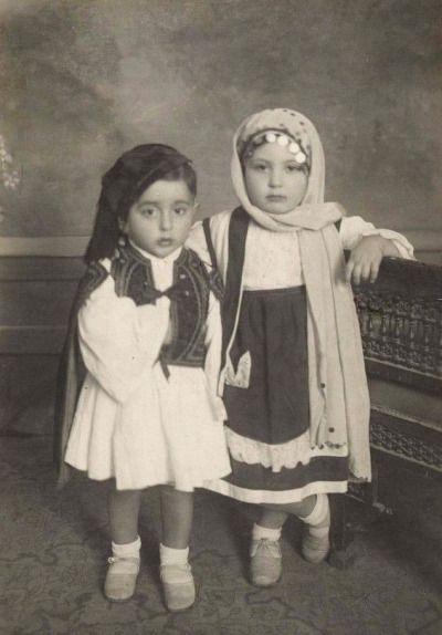 Greek children in traditional costume, c1930s www.eBay.com