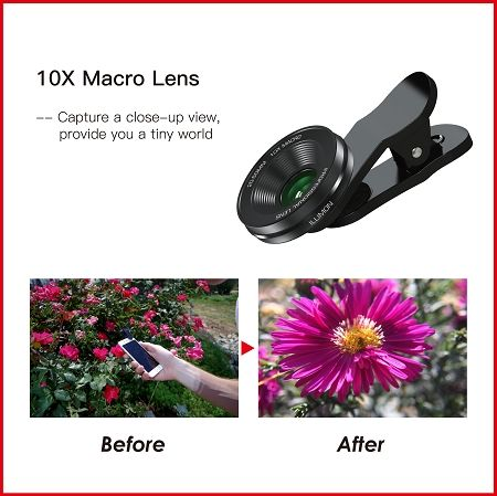 Super Macro Camera Lens With Clip for Smartphone. Professional Photography 10X Macro Lens Kits