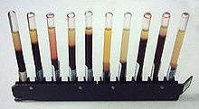 The erythrocyte sedimentation rate (ESR), also called a sed rate or Westergren ESR, is the rate at which red blood cells settle in a period of one hour. It is a common hematology test, and is a non-specific measure of inflammation.