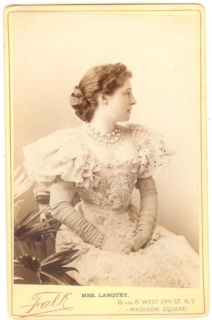 1887 - Mrs Lillie Langtry