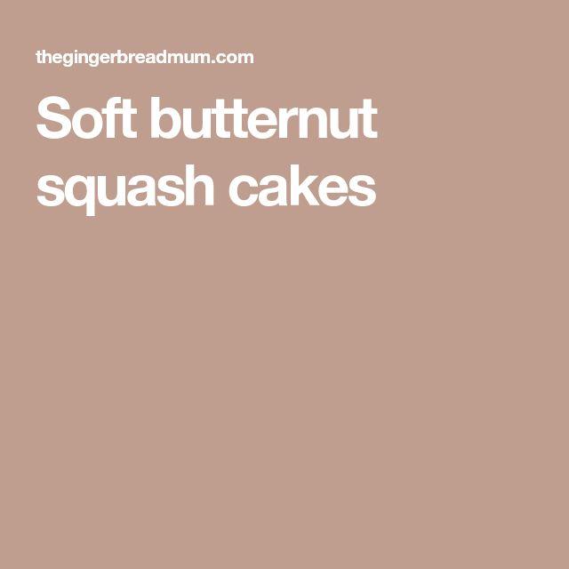 Soft butternut squash cakes
