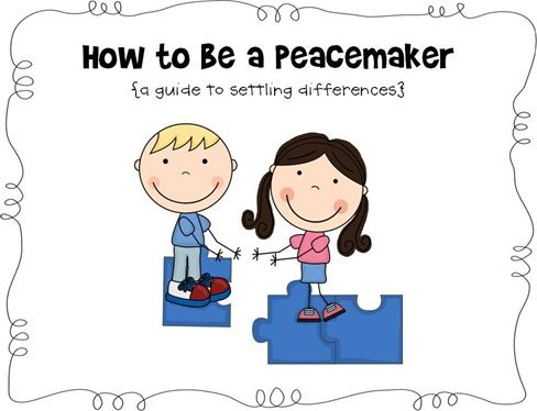 How to be a peacemaker. This could even be a step-by-step guide to compromise for children who have difficulties with pragmatics.