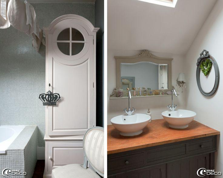 la vie en gris souris jolies salles de bain pinterest magazines. Black Bedroom Furniture Sets. Home Design Ideas