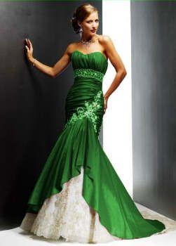 green wedding dress OMG! I LOVE !