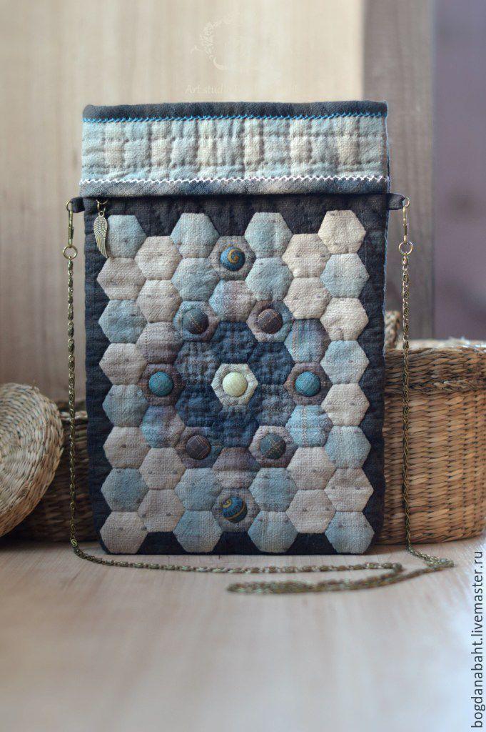 """Купить японская сумочка """"Для путешествий"""" - комбинированный, рисунок, японский стиль, японский пэчворк"""