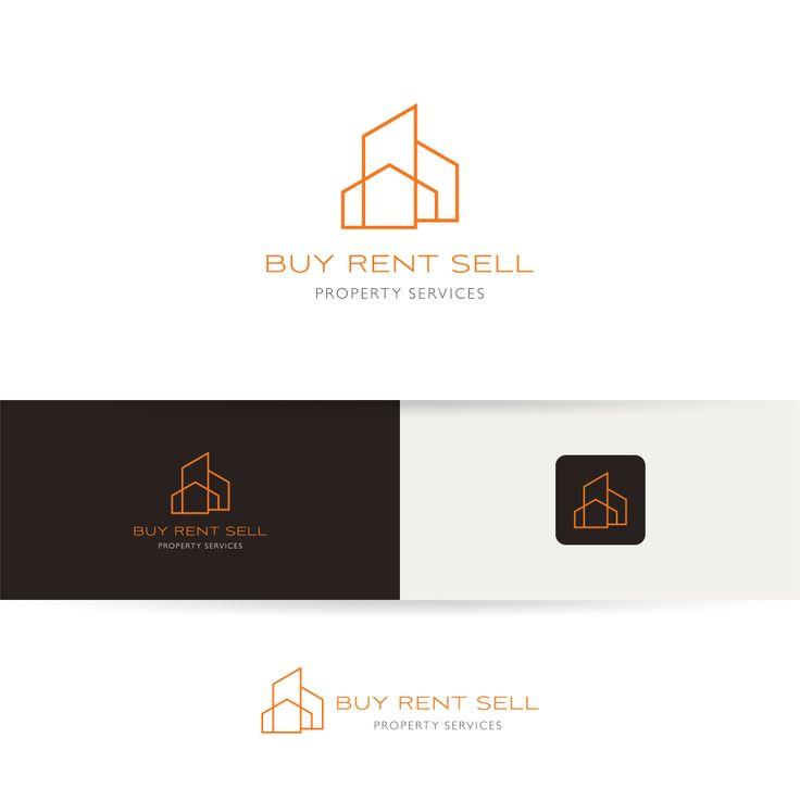 BUY RENT SELL Property Services Upmarket, Modern Logo Design by Goh