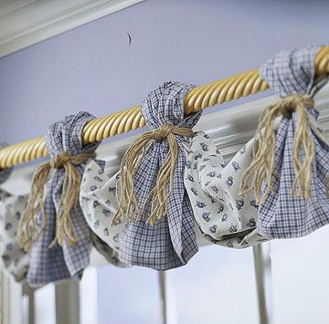 This might be a cute way to add variety to my valances. It would be cute in the kitchen.