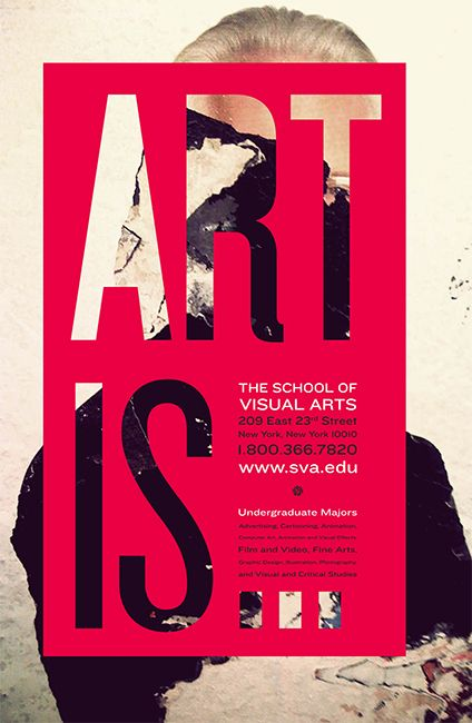 The School of Visual Arts poster poster design layout typography
