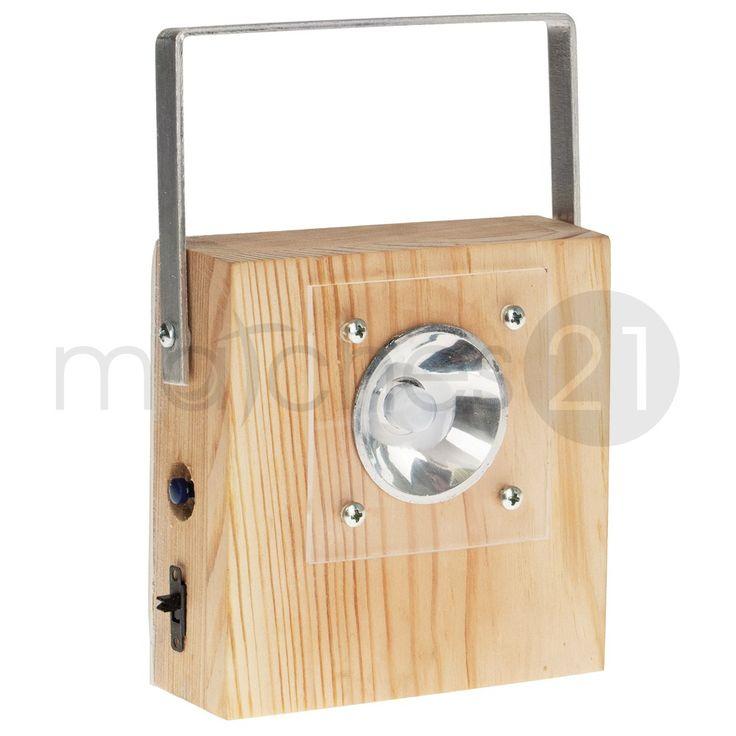 LED Taschenlampe Holz Kinder Bausatz Werkset Bastelset ab 11 J.