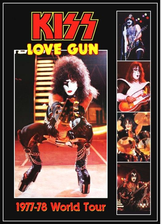 kiss tour 1977   KISS Paul Stanley Love Gun 1977-78 Tour Stand-Up Display by kiss76