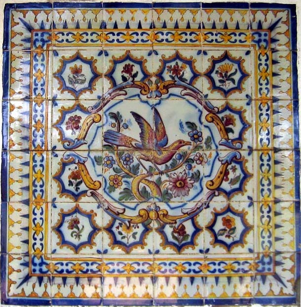 Portuguese tile work, train station Azulejo