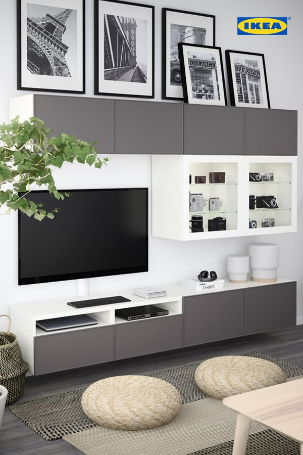 Hide And Sleek Save 15 On All Bestå Media Storage At The Ikea Media Storage Event Until Ikea Living Room Small Living Room Ideas With Tv Living Room Tv Wall