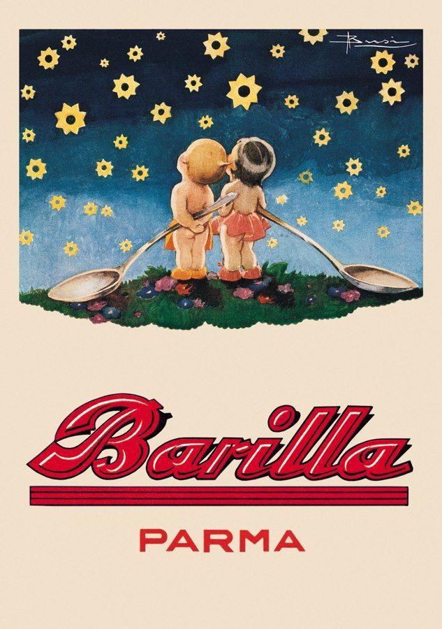 Barilla Vintage Spaghetti, Pasta, Macaroni, Ad, Advertising