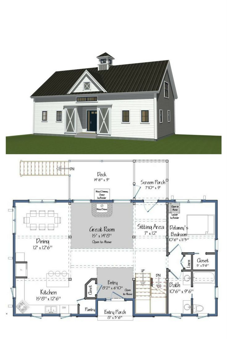 74 best Barn Home Floor Plans images on Pinterest | Architecture ...