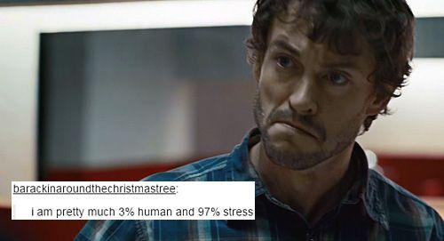 Will Graham: 3% Human, 97% Stress... OH MY GOD!! XD