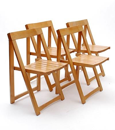 clear lackered beechwooden folding chairs 4x fiera di trieste design aldo jacober executed