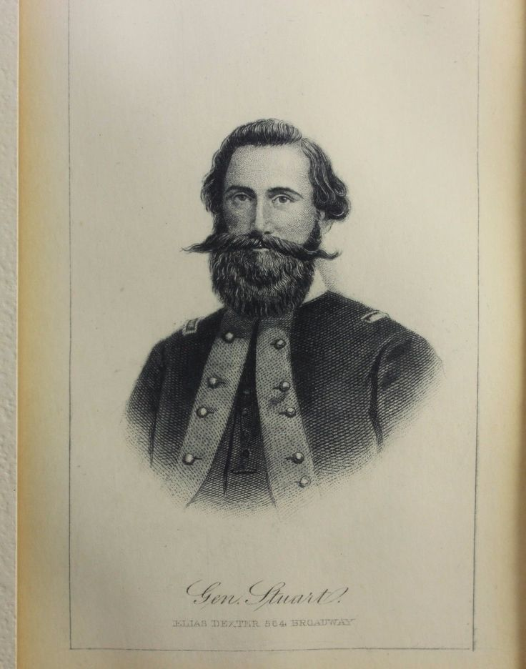ANTIQUE LITHOGRAPH OF GENERAL JEB STUART MADE 1862-1865 BY ELIAS DEXTER | eBay $65.00