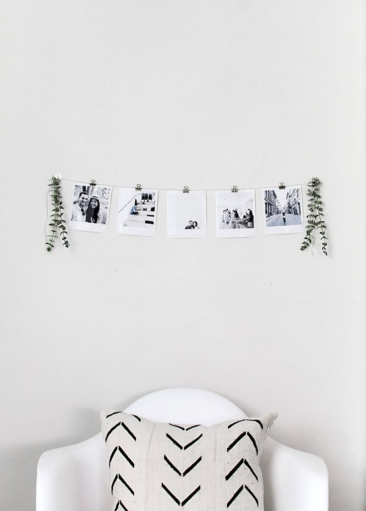 DIY Instant Film Style Photo Garland @canonusa #craftywithcanon #partner