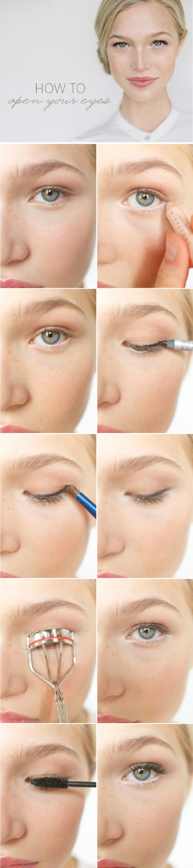 1040 best paint me images on pinterest make up beauty products makeup tips and tricks to make you look less tired this makeup tutorial shows you how to open your eyes to look more awake step by step beauty tutorials baditri Image collections