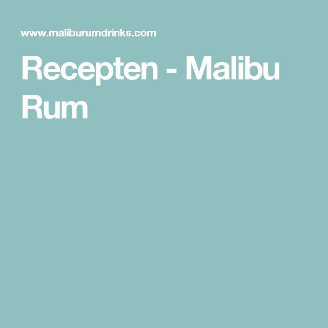 Recepten - Malibu Rum