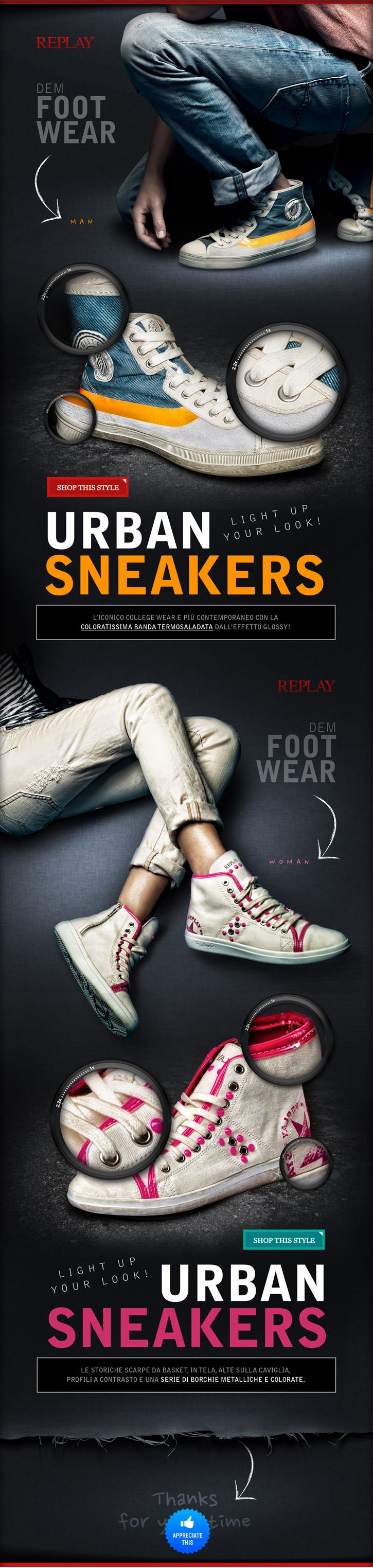 Story Central of UrbanSneaker web design