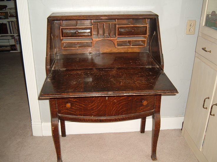 Antique Secretary Desk - http://www.nikkikavanagh.com/antique-secretary-desk/ : #DesksDesign An antique secretary desk, both modern and ancient time, some wear on an antique desk clerk does not take away from its charm; but that makes it more cozy and warm in appearance. Secretary desks with clean modern lines may lack the upper deck and are equipped with internal gears or sliders that...