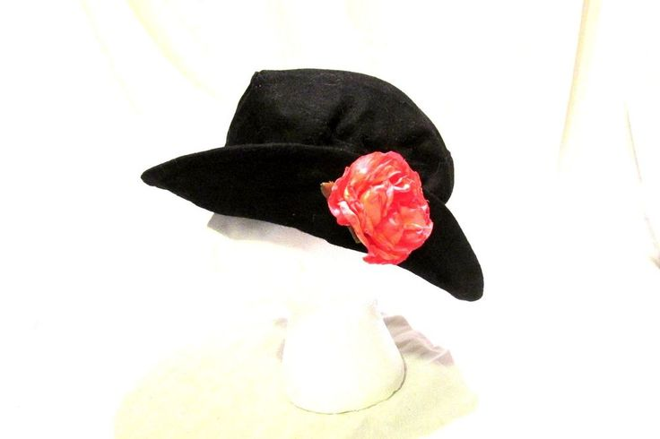 Womens Soft Clouche Hat Black One Size Arlin Felted #Arlin #Cloche #Casual