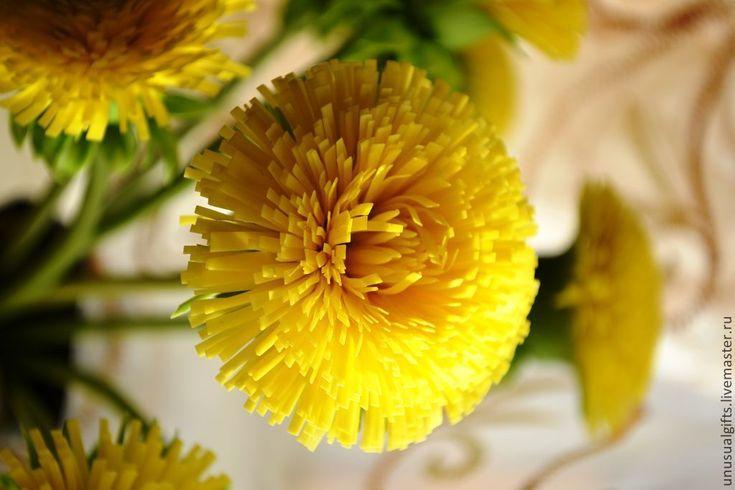 Купить Букет из одуванчиков Капли Солнца - желтый, одуванчики, интерьерная композиция, цветы ручной работы